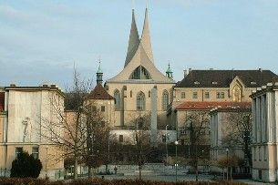 What is the Emmaus Abbey? A magnificent monastery with a church dedicated to Slavic patrons